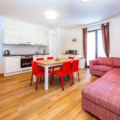 Kuchyňský kout apartmánu Adina 4