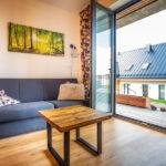 Obývací pokoj apartmánu Adina 3 v komplexu Ski Chalet Klínovec